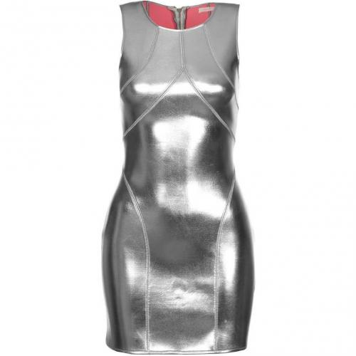 Sass & Bide The Love In Neoprene Etuikleid metallic silver