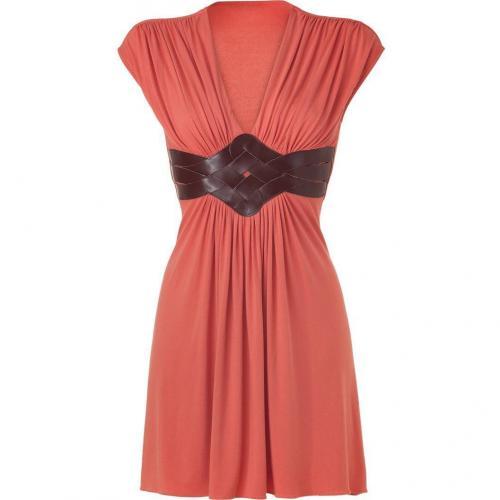 Sky Apricot Draped Mini Dress