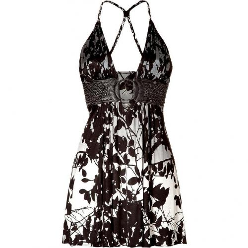 Sky Black/Pearl Printed Mini Dress