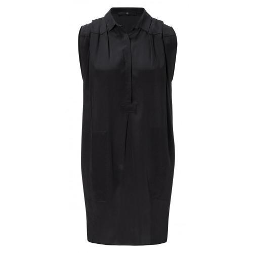 Sly 010 Seiden Kleid Schwarz ohne Ärmel