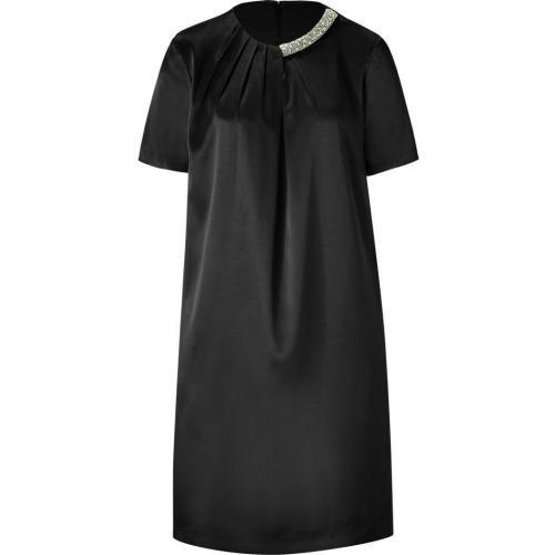 Steffen Schraut Black Crystal Beaded Sunset Tunic Dress