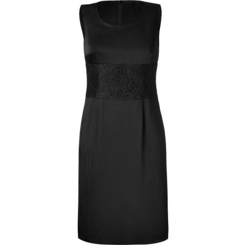 Steffen Schraut Black Shift Dress With Lace Detailing