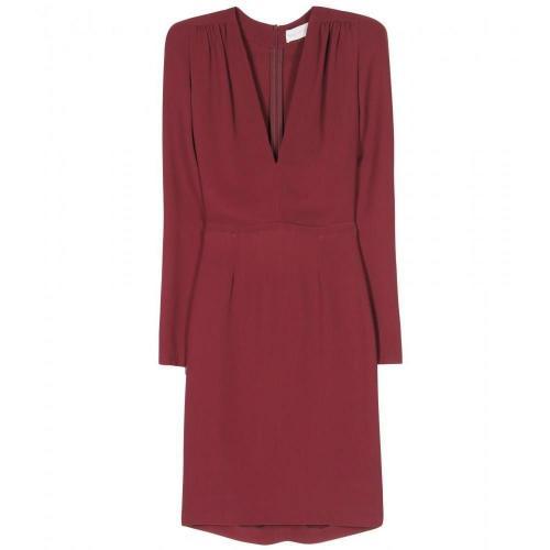 Amazon Crêpe-Kleid Mit Schulterpolstern