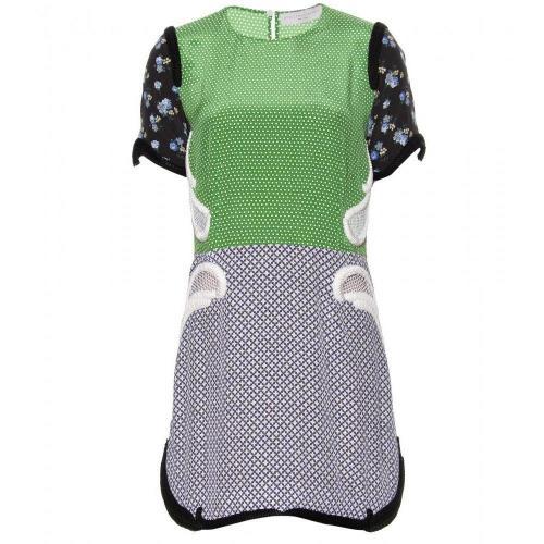 Amazon Seidenkleid Mit Verzierten Borten