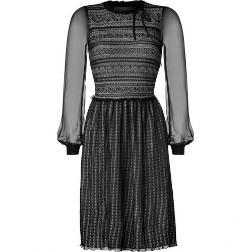 Valentino Black/Nude Lace-Effect Dress