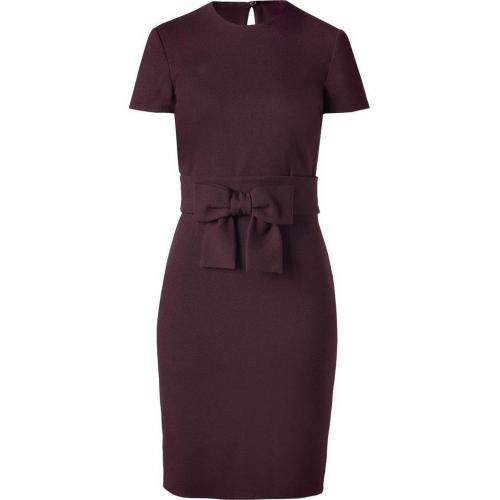 Valentino Burgundy Tie Waist Dress
