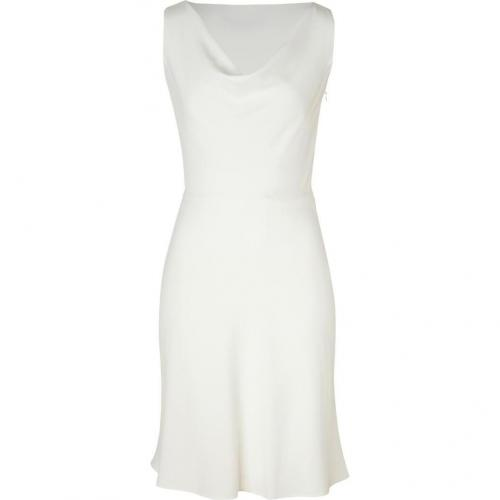 Valentino Ivory Cowl Neck Dress