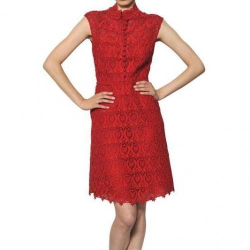 Valentino Kleid Aus Baumwollmakramee