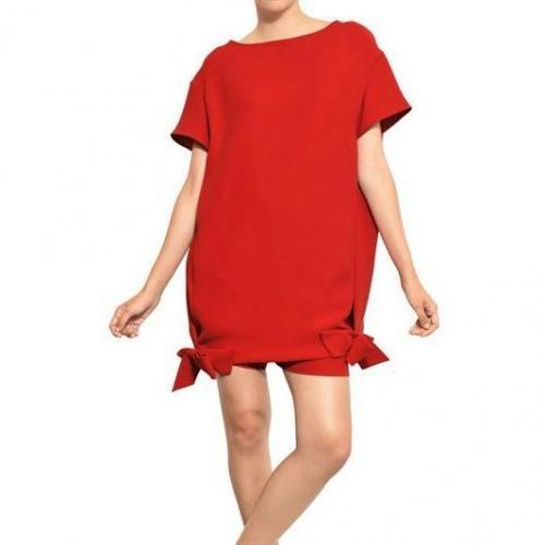 Valentino Kleid Aus Seide Und Cady Mit Schleife