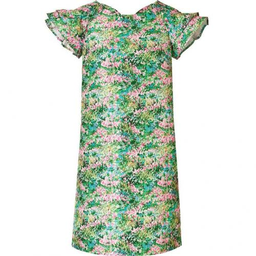 Valentino R.E.D. Green-Multi Floral Print Dress