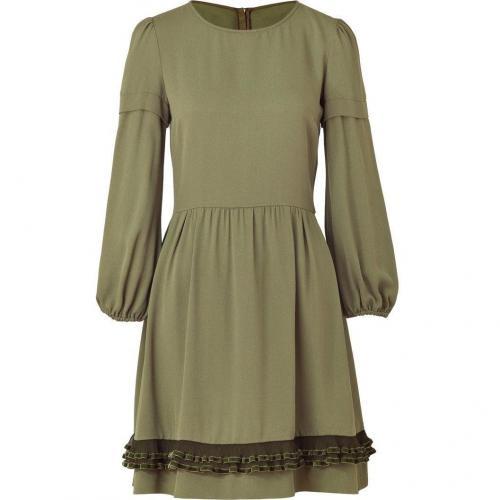 Valentino R.E.D. Pistachio Ruffle Trim Dress