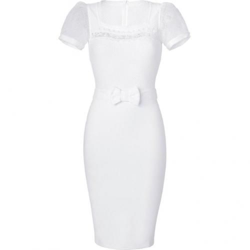 Valentino R.E.D. White Waffle Knit Combo Dress