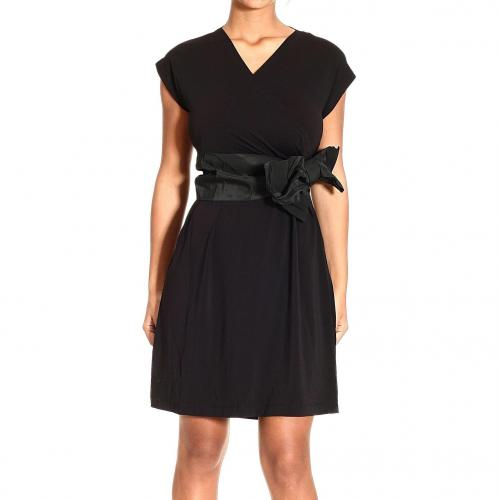 Valentino Sleeveless v neck jersey bow dress