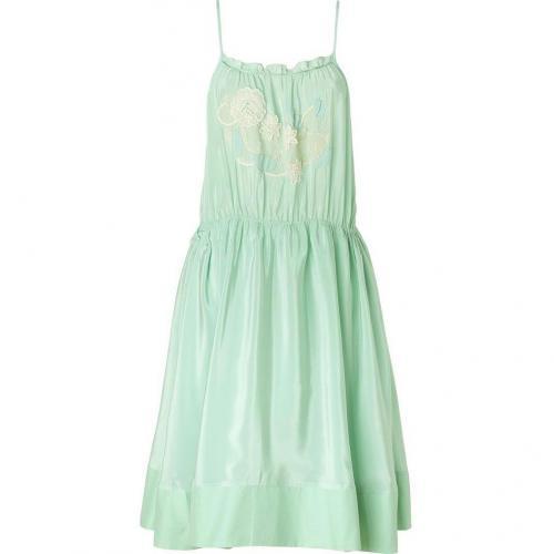 Vanessa Bruno Athé Aquamarine Silk Dress