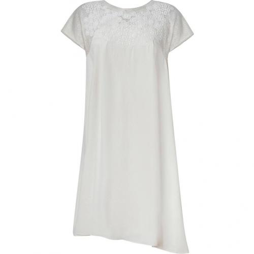 Vanessa Bruno Ivory Shift Dress with Lace Trim