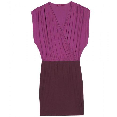 Velvet Jerseykleid In Wickeloptik
