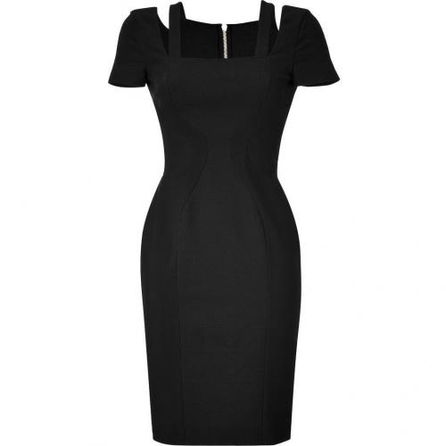 Versace Black Fitted Cotton Blend Dress