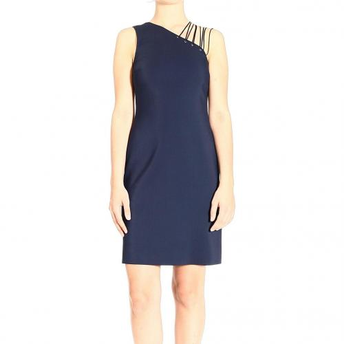 Versace One shoulder jersey laces dress