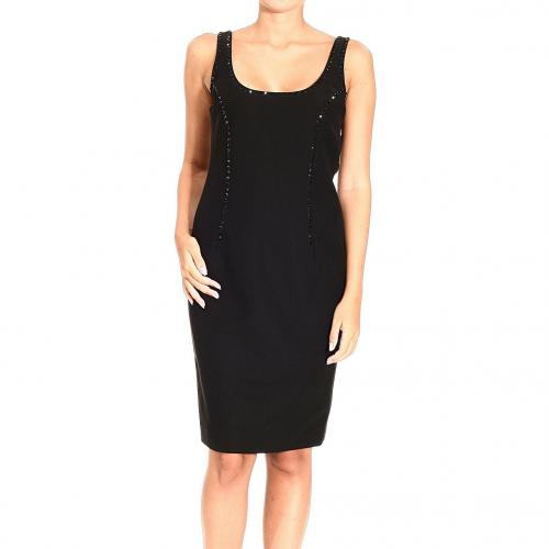 Versace Sleeveless cady studs dress