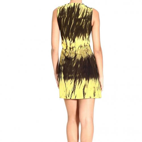 Versace Sleeveless laces print dress