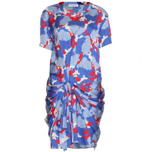 Vionnet Drapiertes Print-Kleid