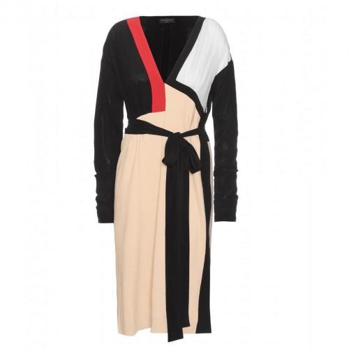 Vionnet Krepp Kleid Im Color-Block-Stil