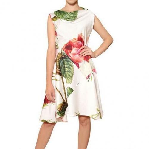 Vivienne Westwood Anglomania Baumwollkleid Mit Rosendruck
