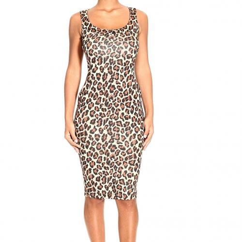 Whos Who Sleeveless viscose spotted dress