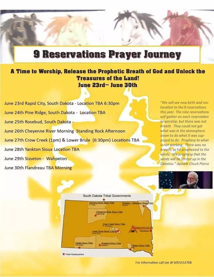 9 Reservations Prayer Journey Launch with Dr  Chuck Pierce