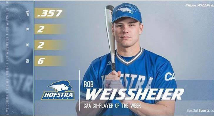 2019 DiamondDawg Named CAA Player Of The Week!