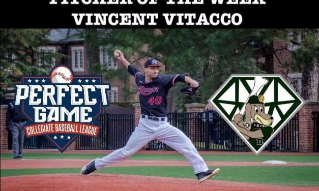 Vitacco Named Pitcher of the Week