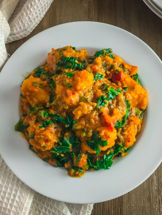 wickedly delicious vegetable yam porridge