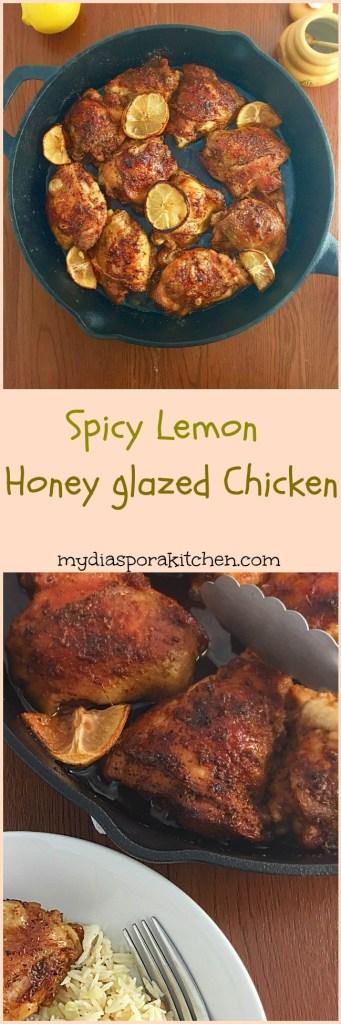 Spicy Lemon Honey Glazed Chicken thighs