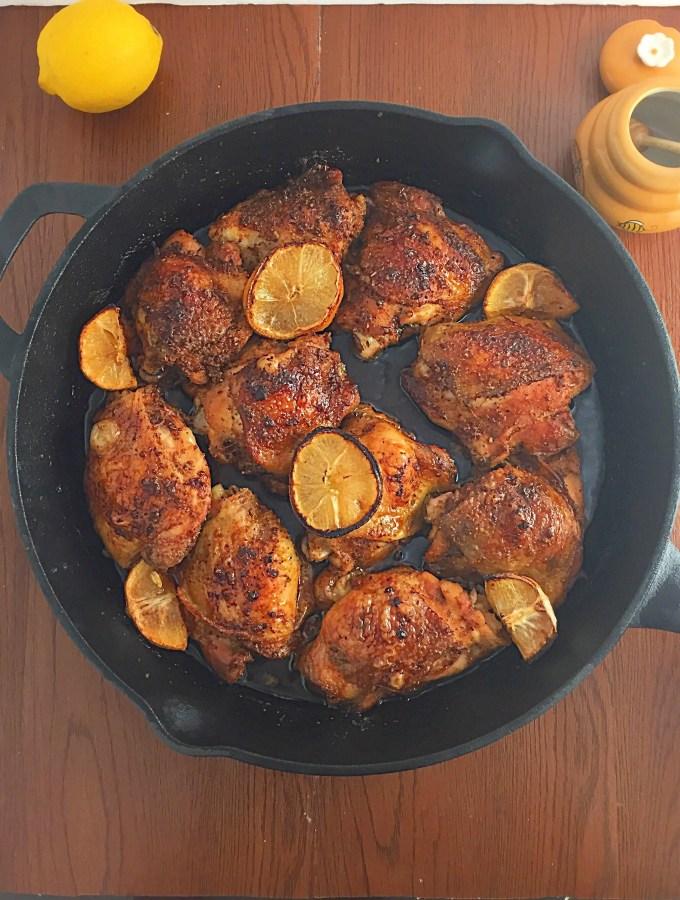 spicy lemon honey glazed chicken