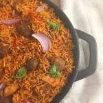 Skillet Nigerian Coconut Jollof Rice