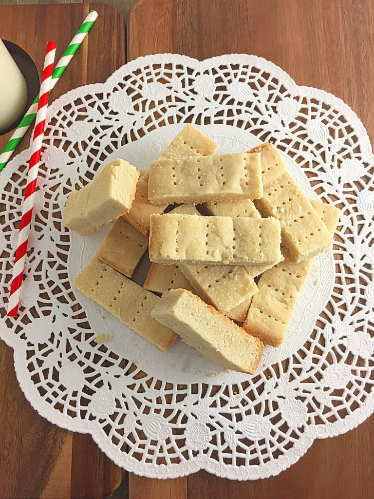 Walkers Shortbread Cookies in a doily