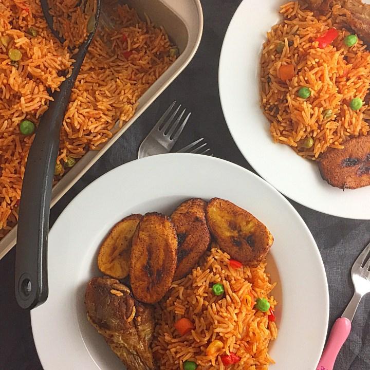 Mixed Veggies Jollof Basmati Rice