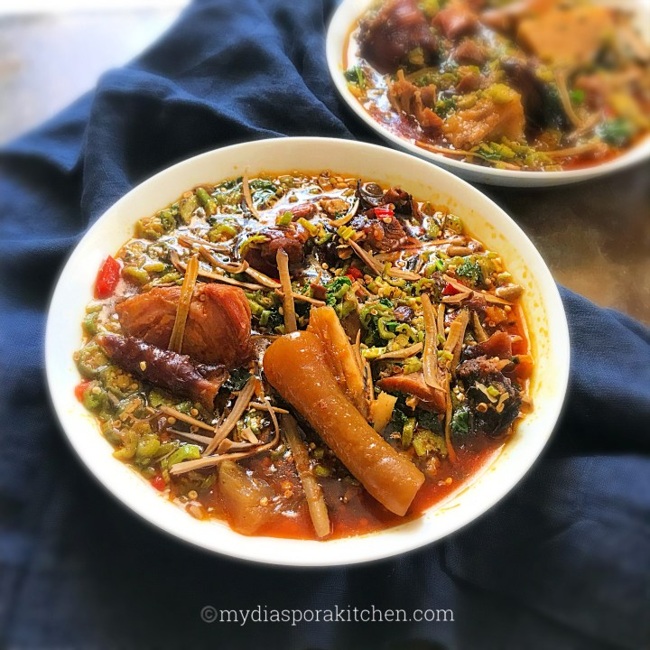 Ofe Ugba; African Oil bean soup