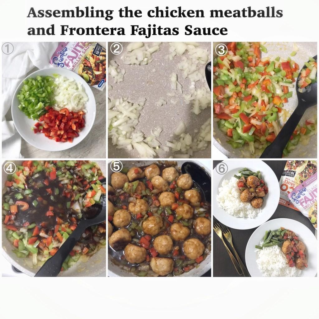 Chicken meat balls and Fajita sauce