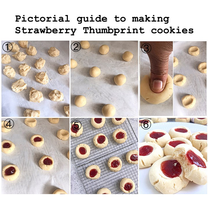 Strawberry Thumb print Cookies