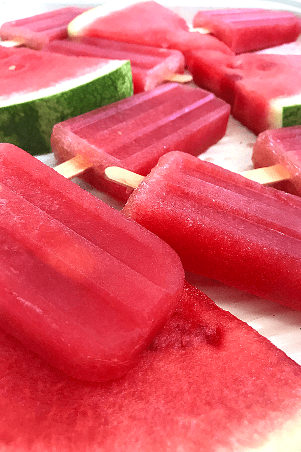 Easy healthy watermelon popsicles