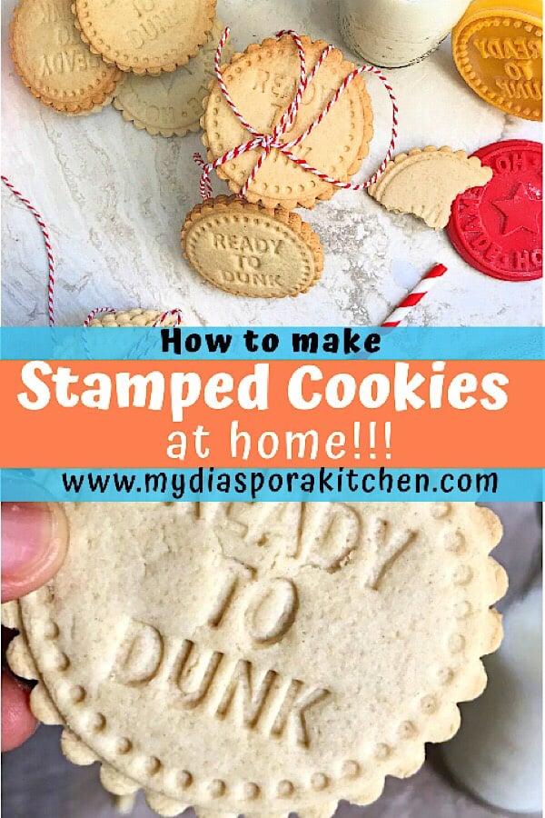 homemade stamped cookies