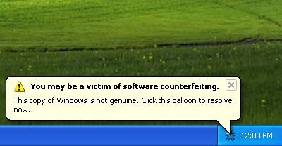Windows Genuine Advantage Notifications