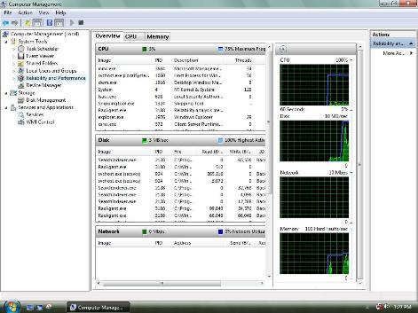 Performance Monitor in Windows 7