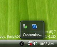 Windows 7 System Tray (Notification Area)