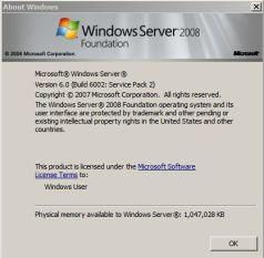 Windows 2008 sp2