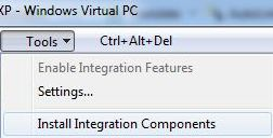 Install Virtual PC Integration Components