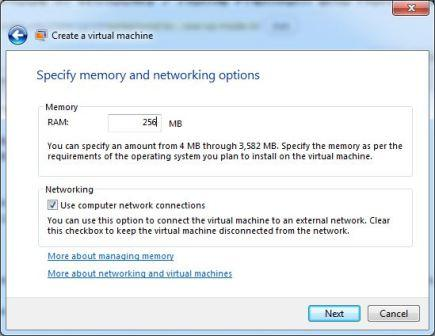 Virtual Machine RAM Memory