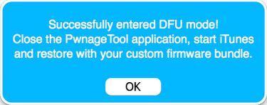 PwnageTool Detects DFU Mode