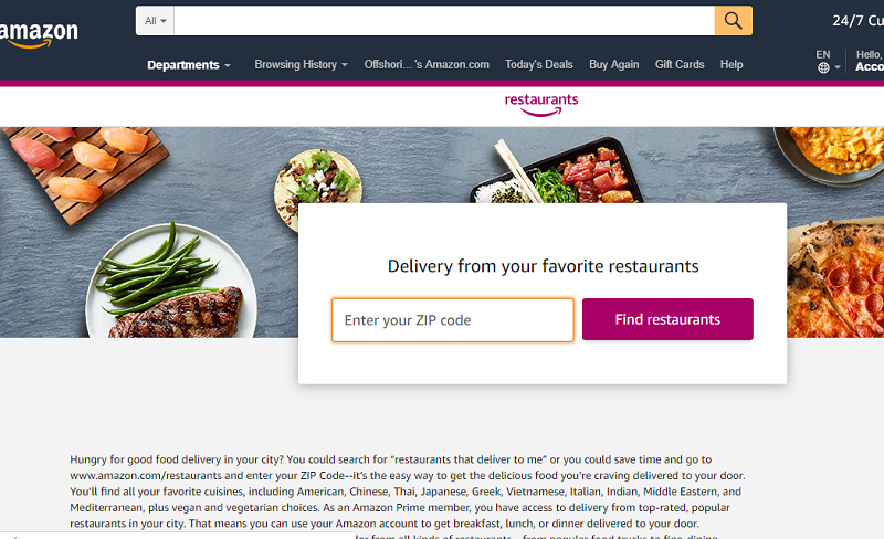 amazon prime food delivery